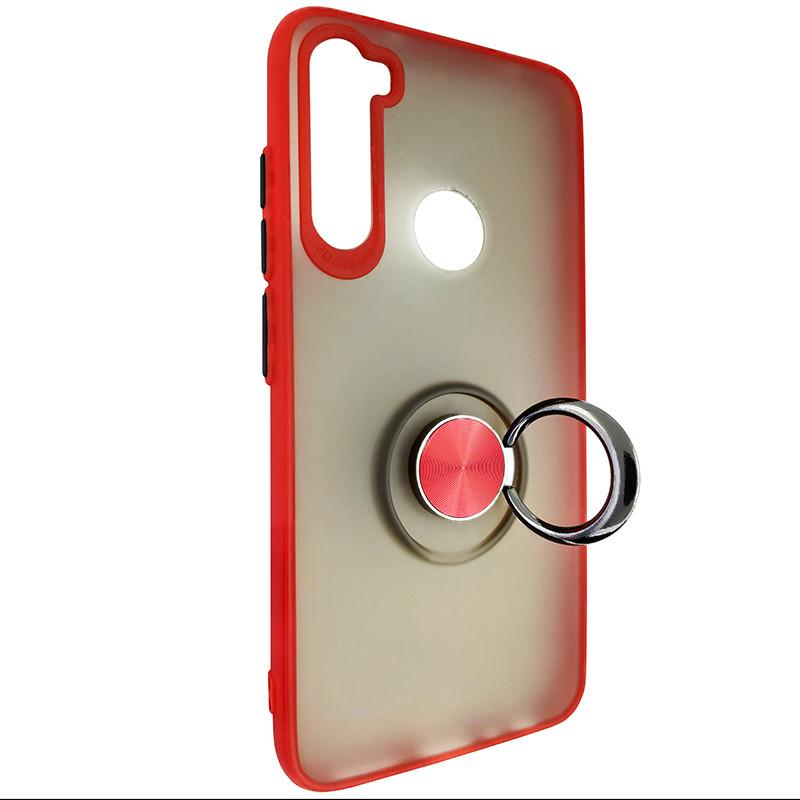 Чохол Totu Copy Ring Case Xiaomi Redmi Note 8 Red+Black - 2