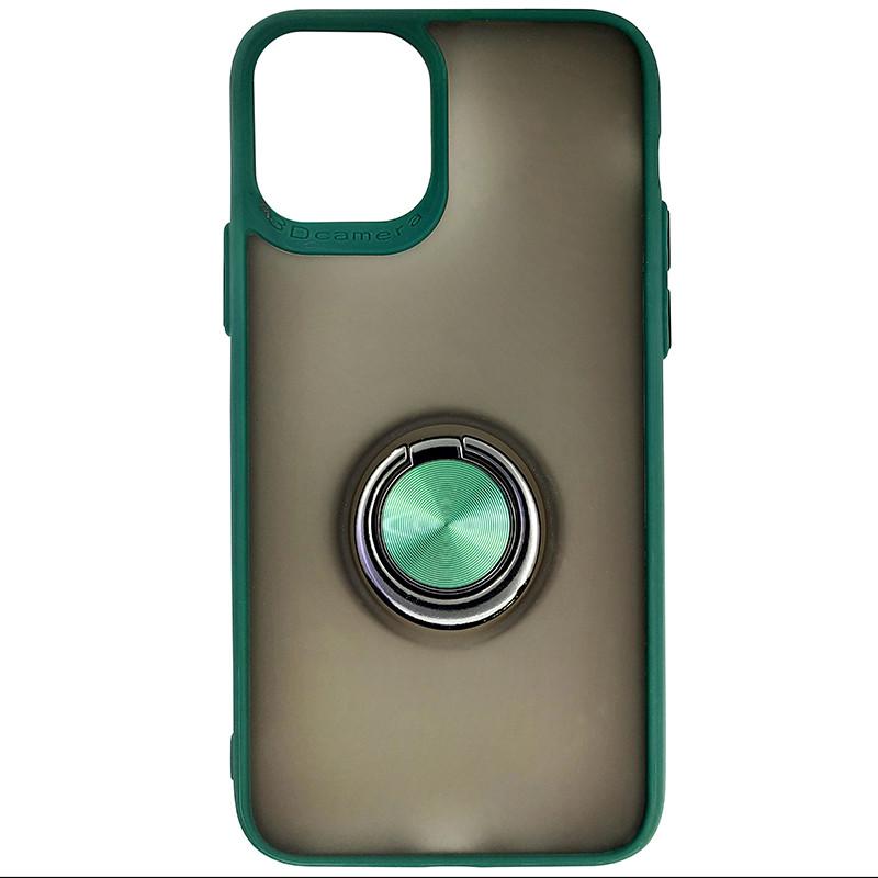 Чохол Totu Copy Ring Case iPhone 11 Pro Green+Black - 3
