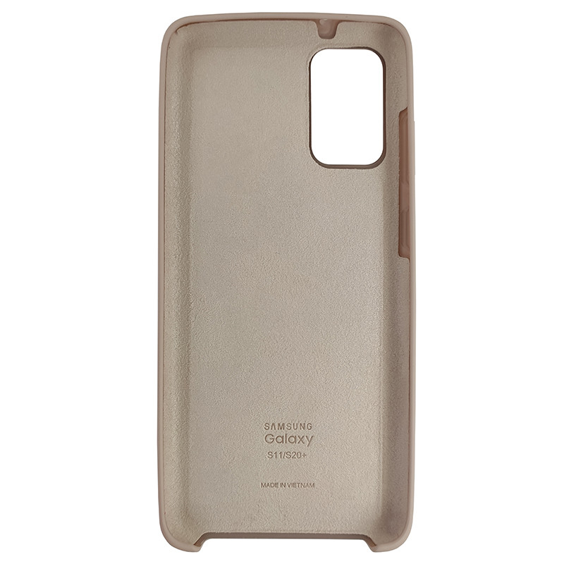 Чохол Silicone Case for Samsung S20 Plus Sand Pink (19) - 3