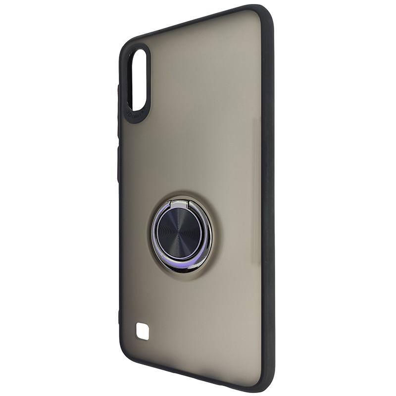 Чохол Totu Copy Ring Case Samsung A10 Black+Red - 3