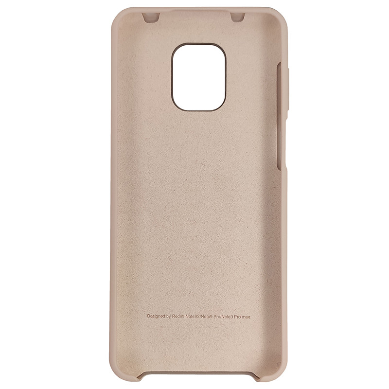 Чохол Silicone Case for Xiaomi Redmi Note 9S/9 Pro Sand Pink (19) - 3