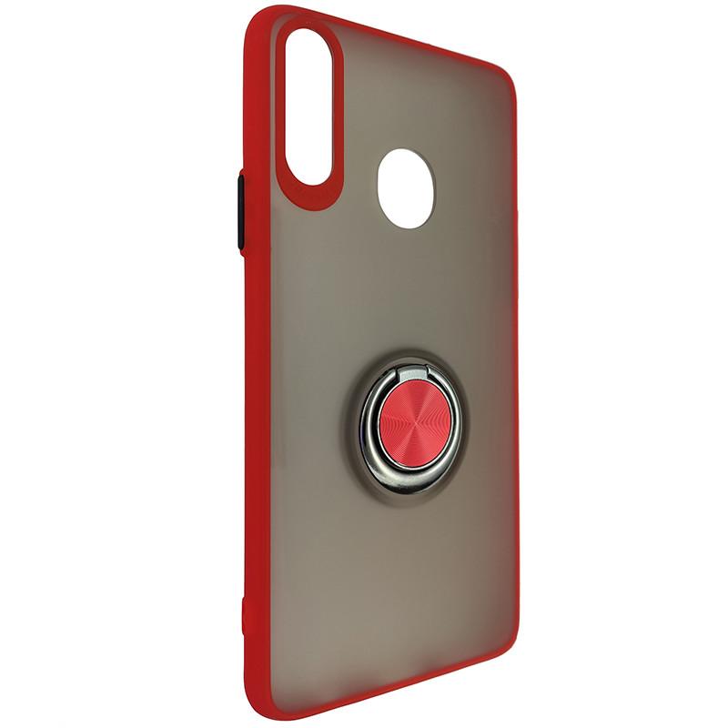 Чохол Totu Copy Ring Case Samsung A20S Red+Black - 1