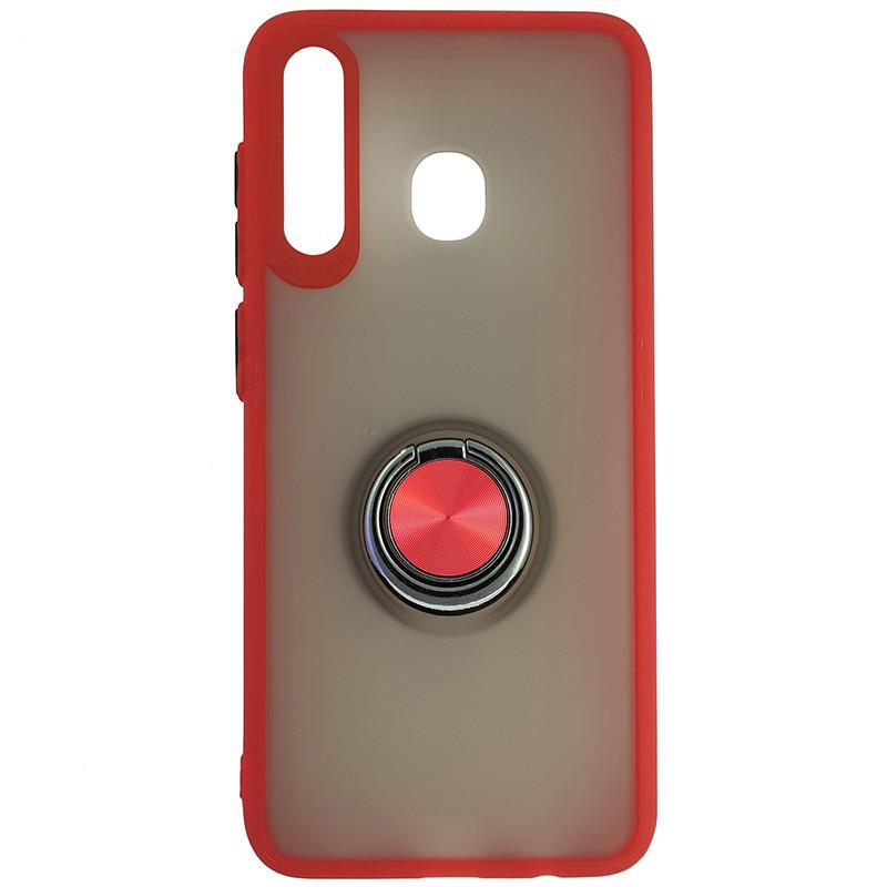Чохол Totu Copy Ring Case Samsung A20/A30/M10S Red+Black - 4