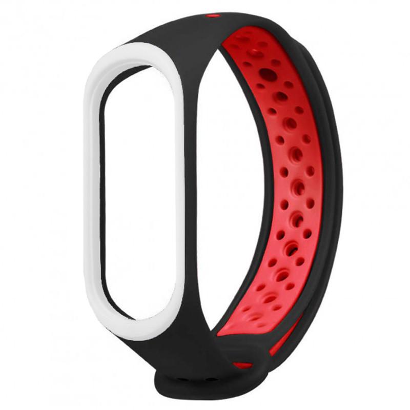 Ремінець для фітнес браслету Mi Band 3/4 Sport Band Nike Black/Red (W) - 1