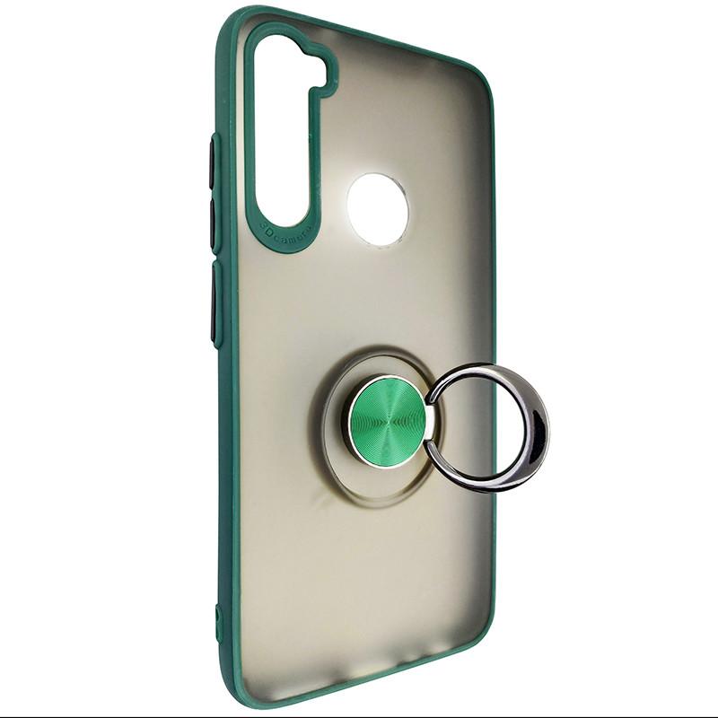 Чохол Totu Copy Ring Case Xiaomi Redmi Note 8 Green+Black - 2