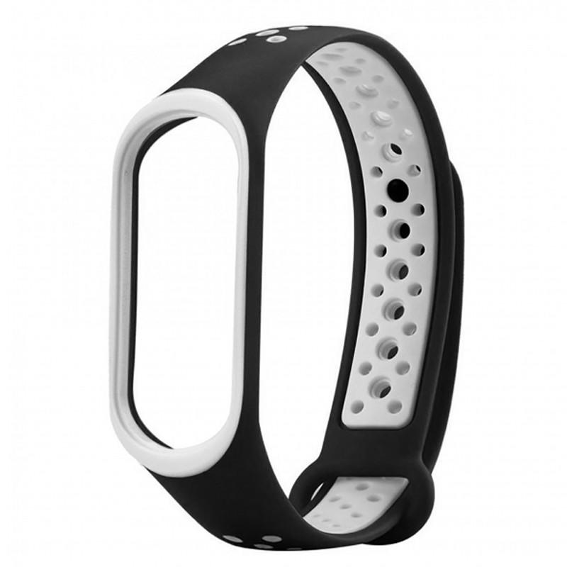 Ремінець для фітнес браслету Mi Band 3/4 Sport Band Nike Black/White - 1