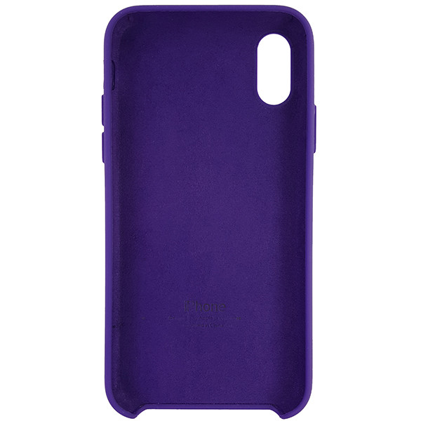 Чохол Copy Silicone Case iPhone X/XS Violet (30) - 4