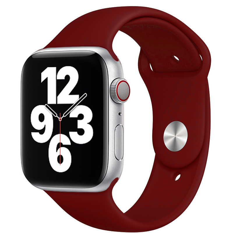 Ремінець для Apple Watch (42-44mm) Sport Band Rose Red (36)  - 2