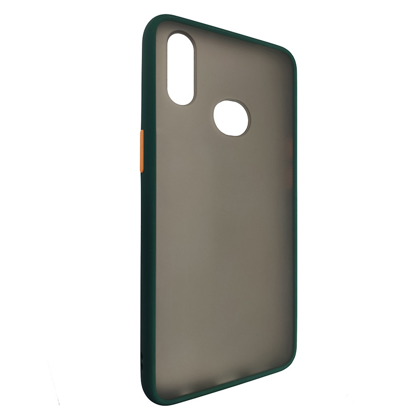 Чохол Totu Copy Gingle Series for Samsung A10S Dark Green+Orange - 1