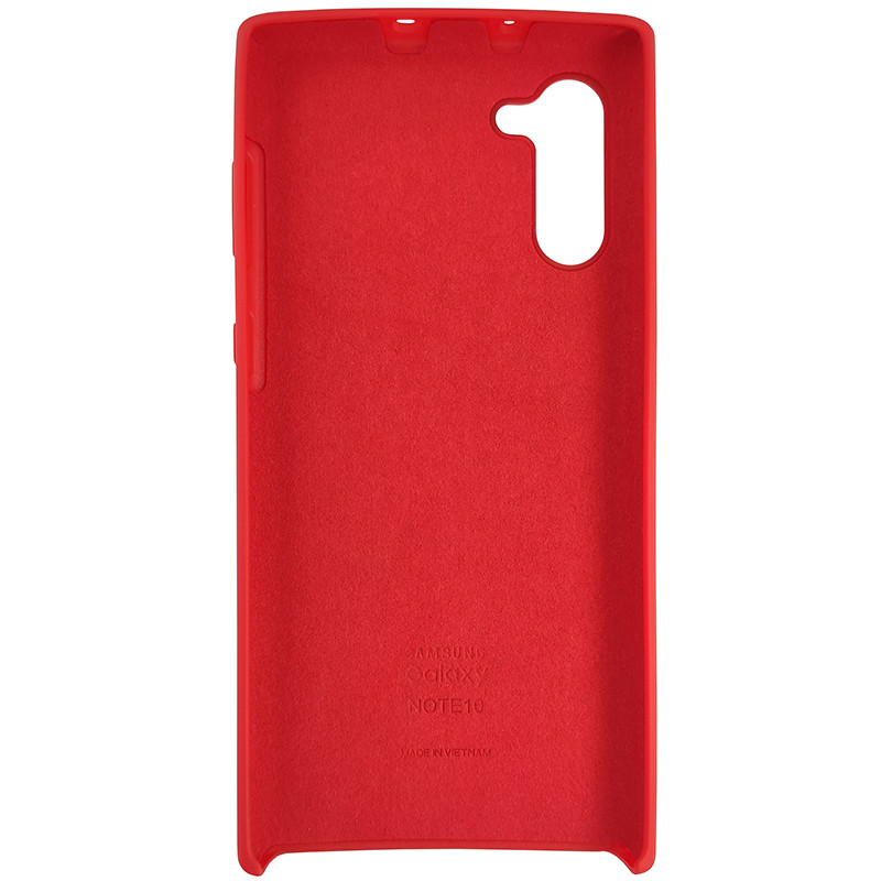 Чохол Silicone Case for Samsung Note 10 Red (14) - 3