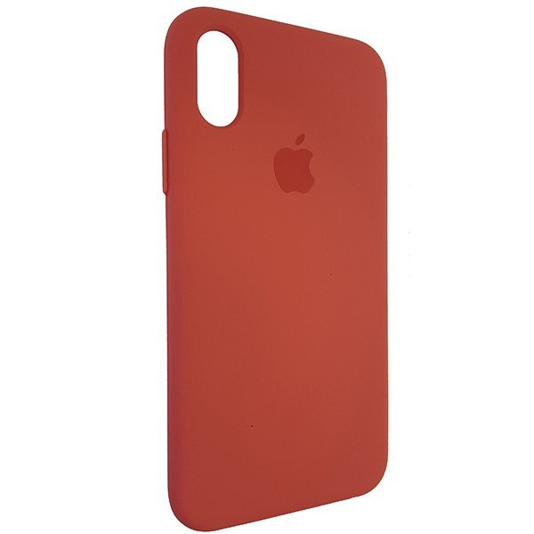 Чохол Copy Silicone Case iPhone X/XS Camellia Red (25) - 1