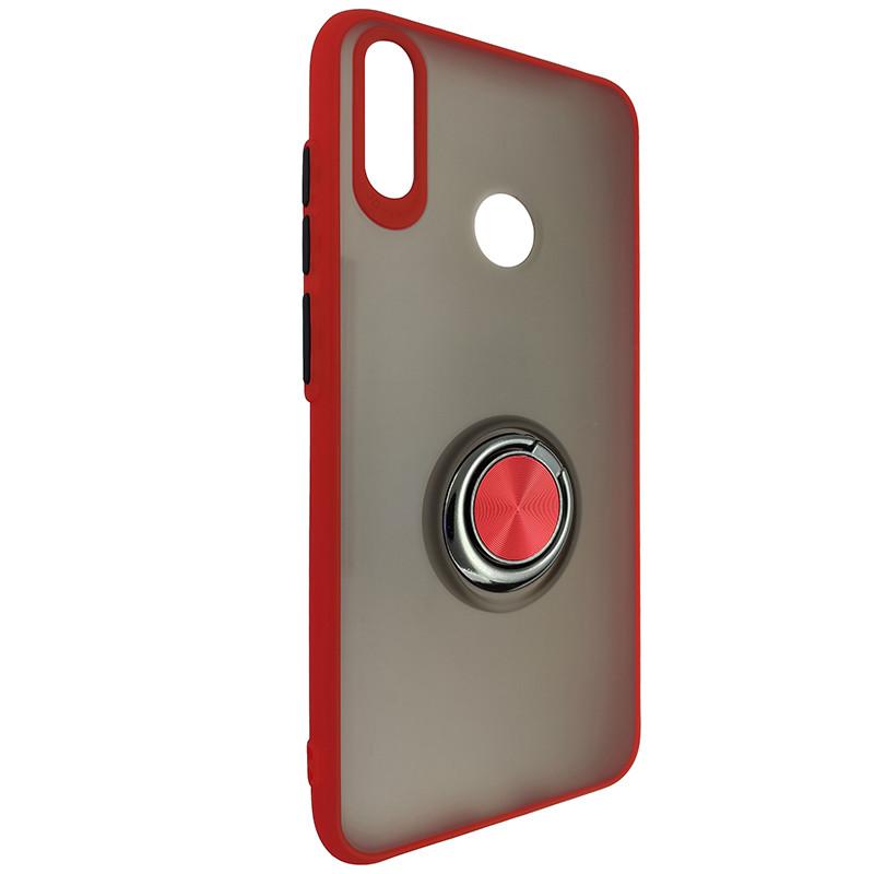 Чохол Totu Copy Ring Case Huawei Y7 2019 Red+Black - 1