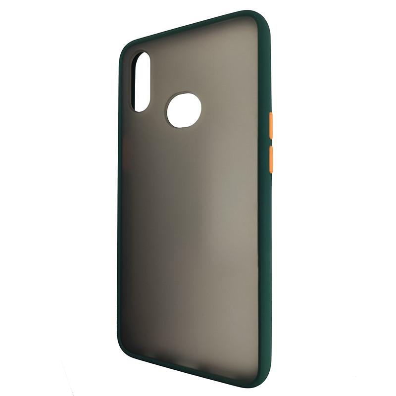 Чохол Totu Copy Gingle Series for Samsung A10S Dark Green+Orange - 3