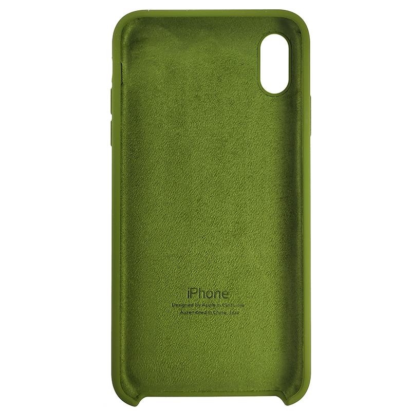 Чохол Copy Silicone Case iPhone XS Max Dark Green (48) - 3