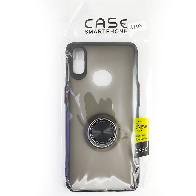 Чохол Totu Copy Ring Case Samsung A10S Black+Red - 5