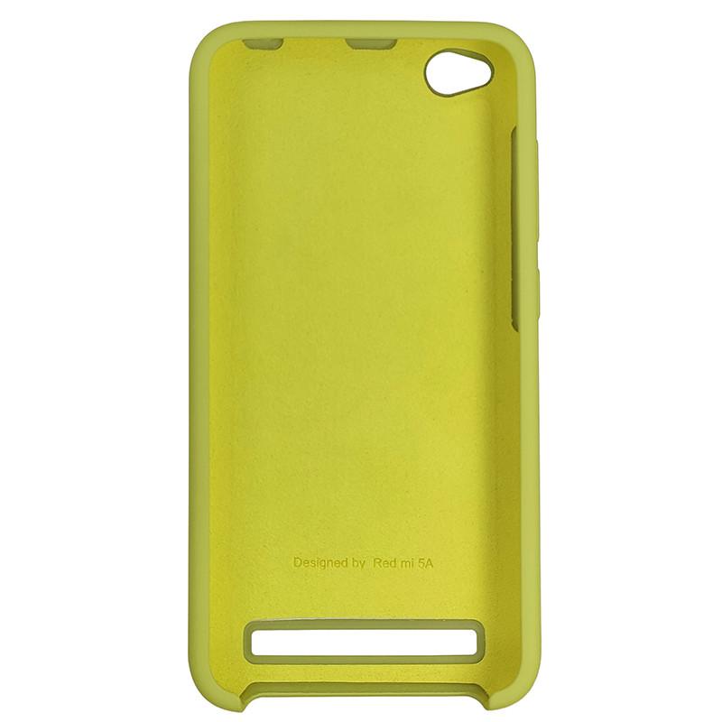 Чохол Silicone Case for Xiaomi Redmi 5A Yellow-Green (34) - 3
