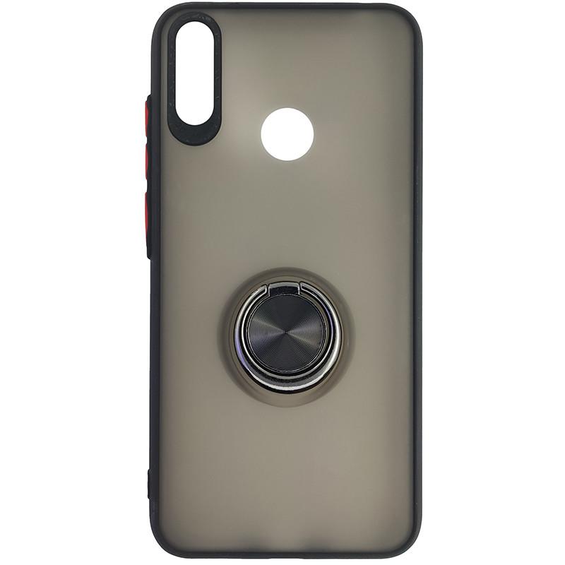 Чохол Totu Copy Ring Case Huawei Y7 2019 Black+Red - 4