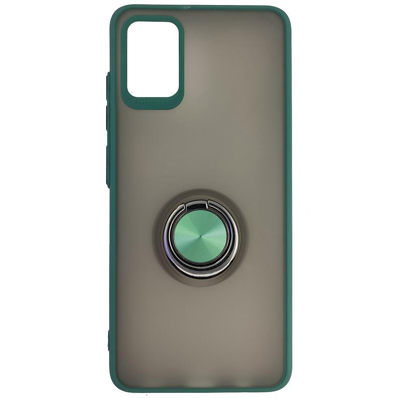 Чохол Totu Copy Ring Case Samsung A51/M40S Green+Black - 4