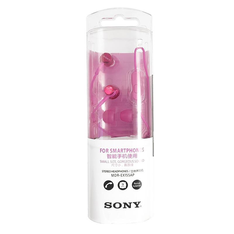 Гарнітура Sony MDR-EX155AP Pink - 3