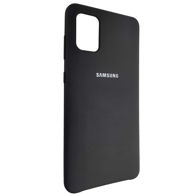 Чохол Silicone Case for Samsung A31 Black (18) - 2