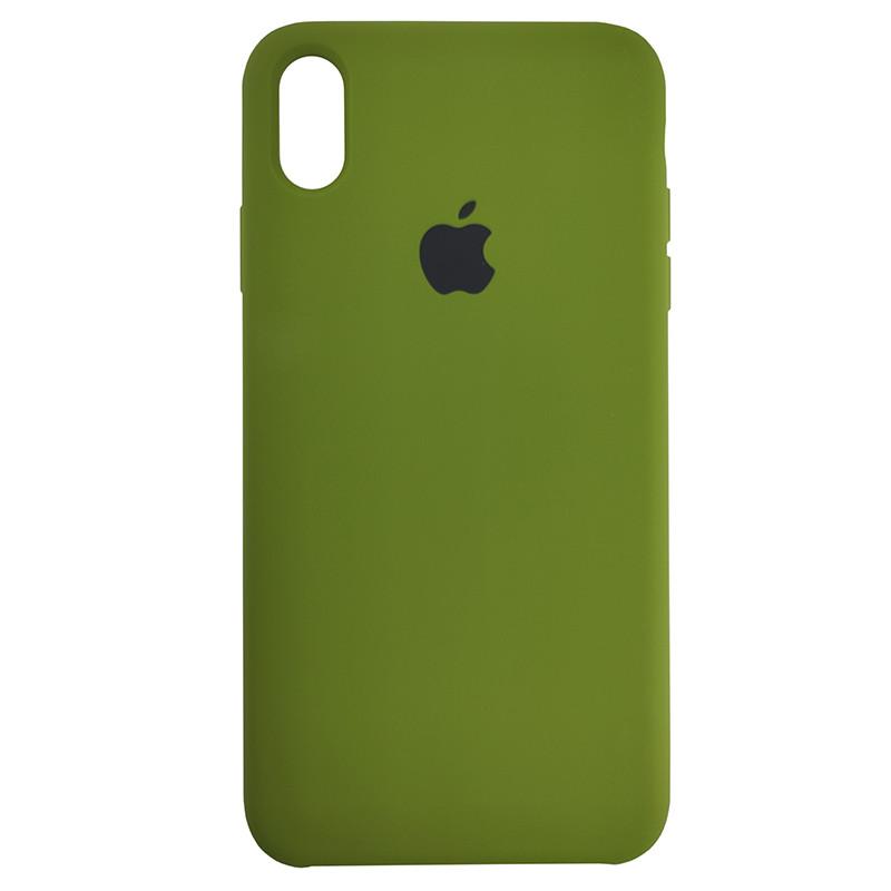 Чохол Copy Silicone Case iPhone XS Max Dark Green (48) - 2