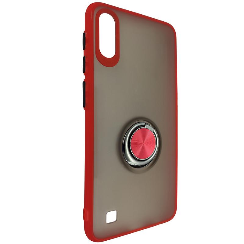 Чохол Totu Copy Ring Case Samsung A10 Red+Black - 1