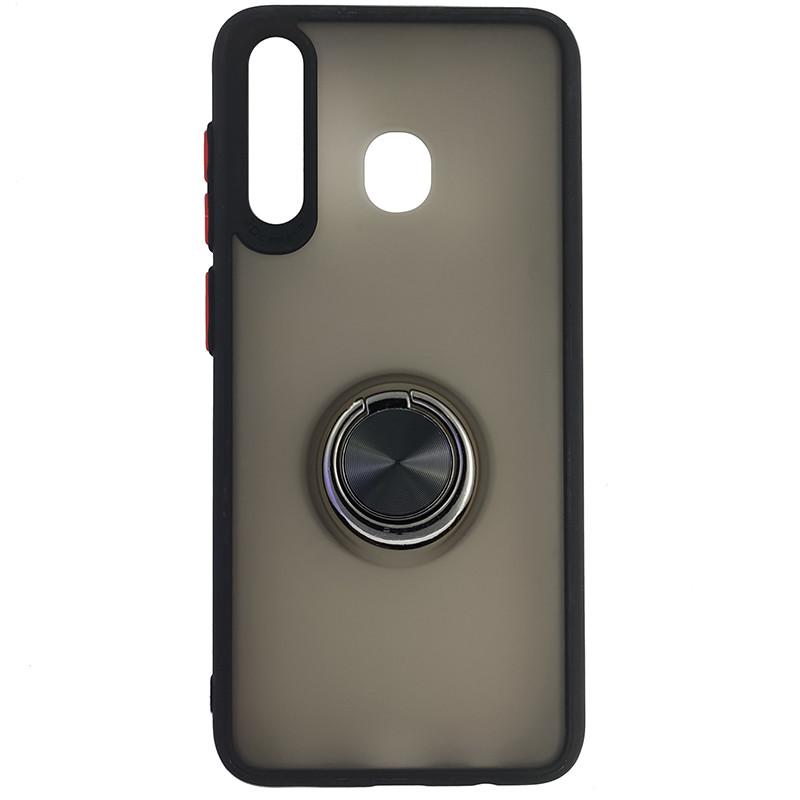 Чохол Totu Copy Ring Case Samsung A20/A30/M10S Black+Red - 4