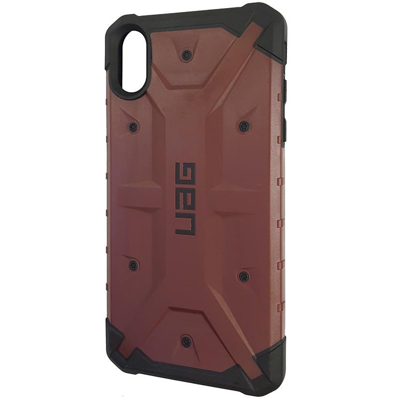 Чохол UAG Pathfinder iPhone XS Max Wine Red (HC) - 1