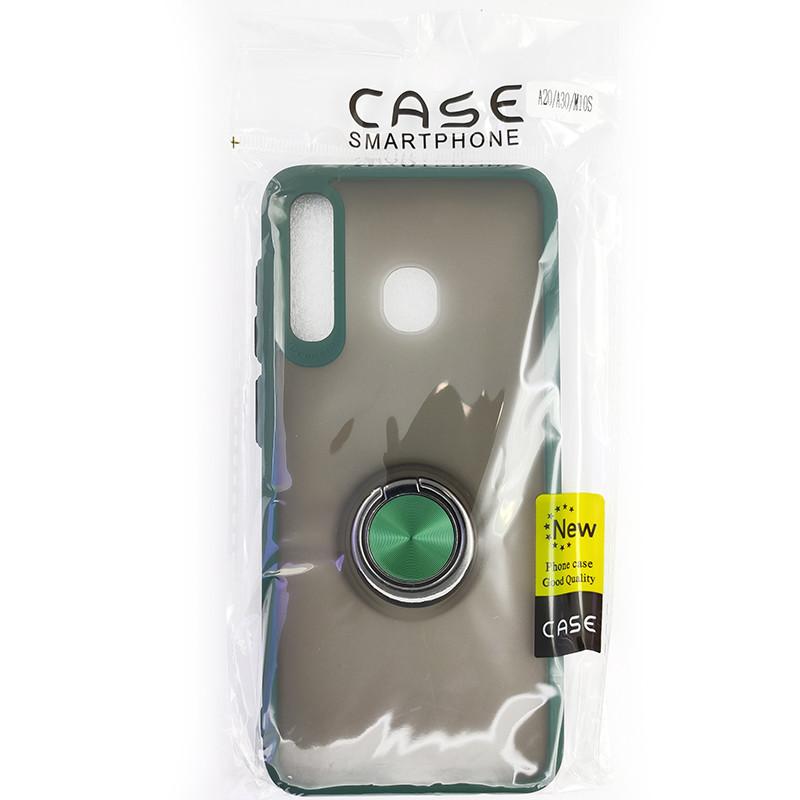 Чохол Totu Copy Ring Case Samsung A20/A30/M10S Green+Black - 5