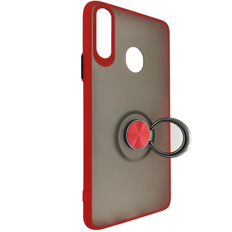 Чохол Totu Copy Ring Case Samsung A20S Red+Black - 2