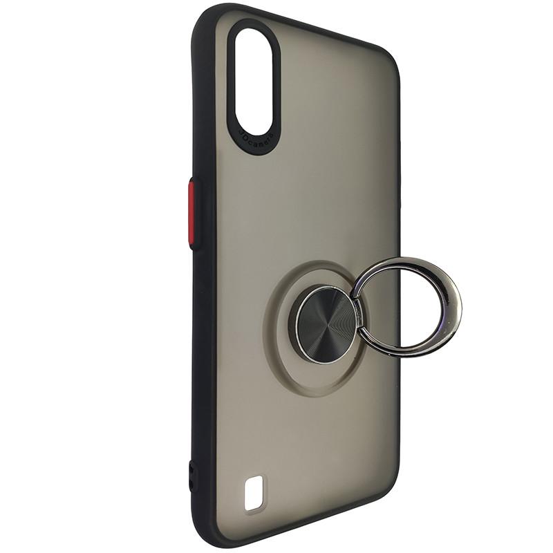 Чохол Totu Copy Ring Case Samsung A01 (A015) Black+Red - 2
