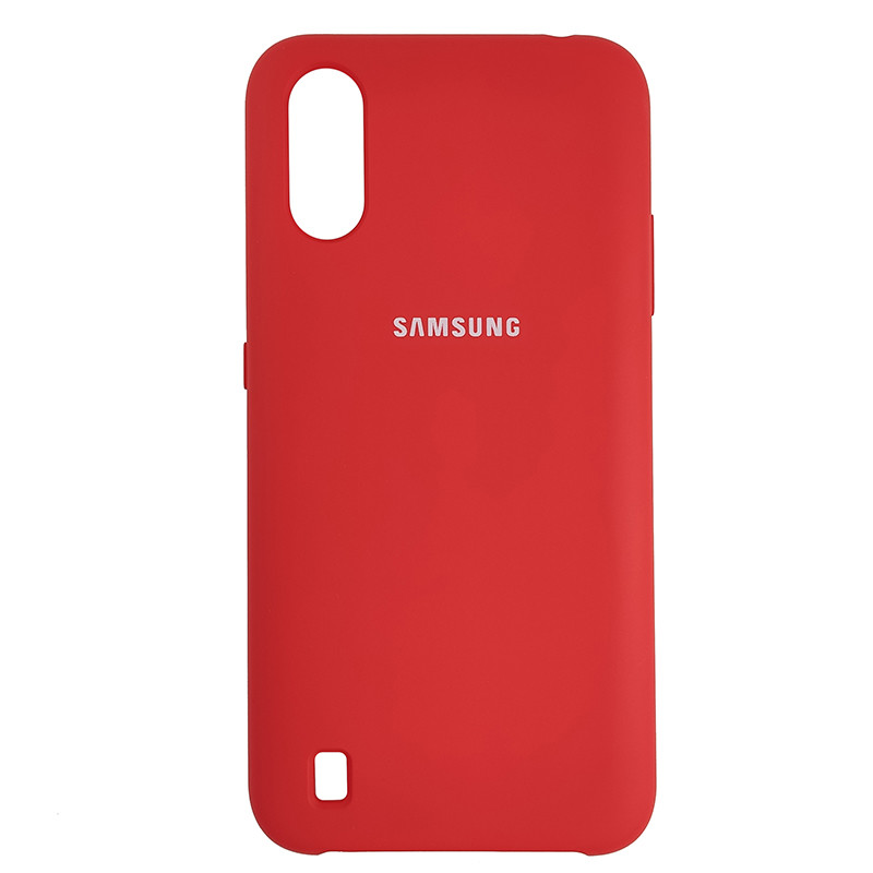 Чохол Silicone Case for Samsung A01 (A015) Red (14) - 1