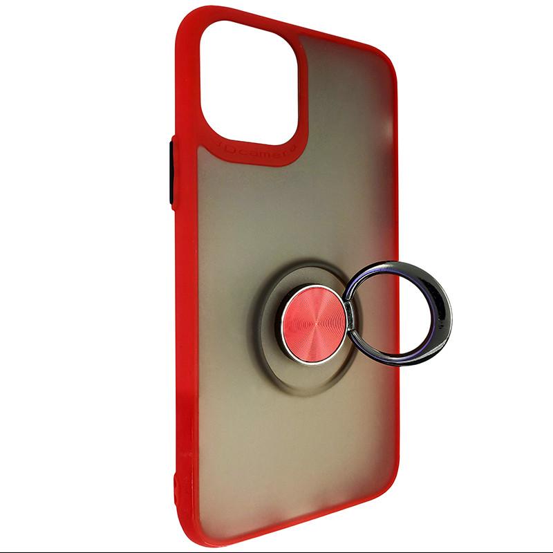 Чохол Totu Copy Ring Case iPhone 11 Pro Red+Black - 2