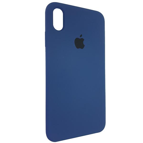 Чохол Copy Silicone Case iPhone XS Max Dark Blue (10) - 1