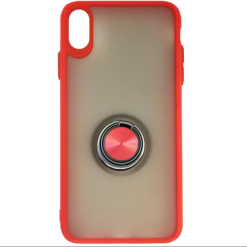 Чохол Totu Copy Ring Case iPhone XS MAX Red+Black - 3