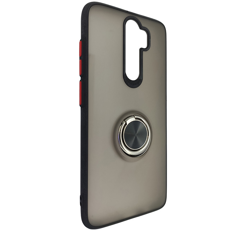 Чохол Totu Copy Ring Case Xiaomi Redmi Note 8 Pro Black+Red - 1