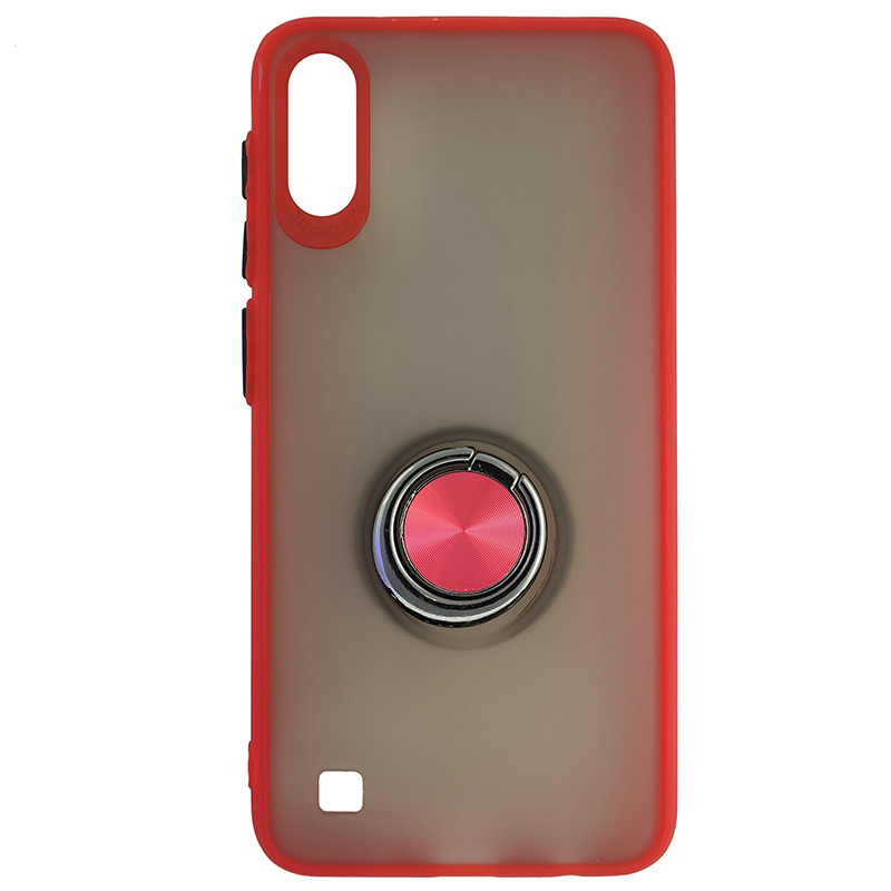 Чохол Totu Copy Ring Case Samsung A10 Red+Black - 4