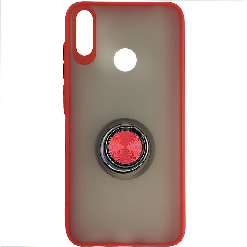 Чохол Totu Copy Ring Case Huawei Y7 2019 Red+Black - 4