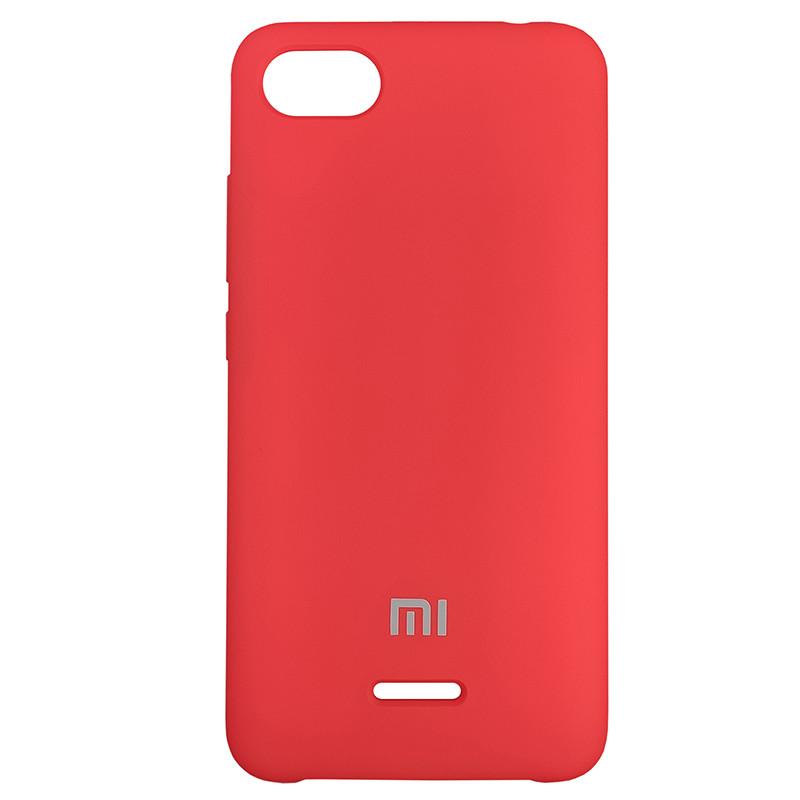 Silicone Case for Xiaomi Redmi 6A Red (14) - 1
