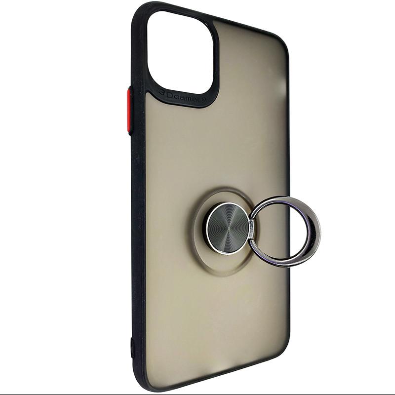 Чехол Totu Copy Ring Case iPhone 11 Pro Max Black+Red - 2