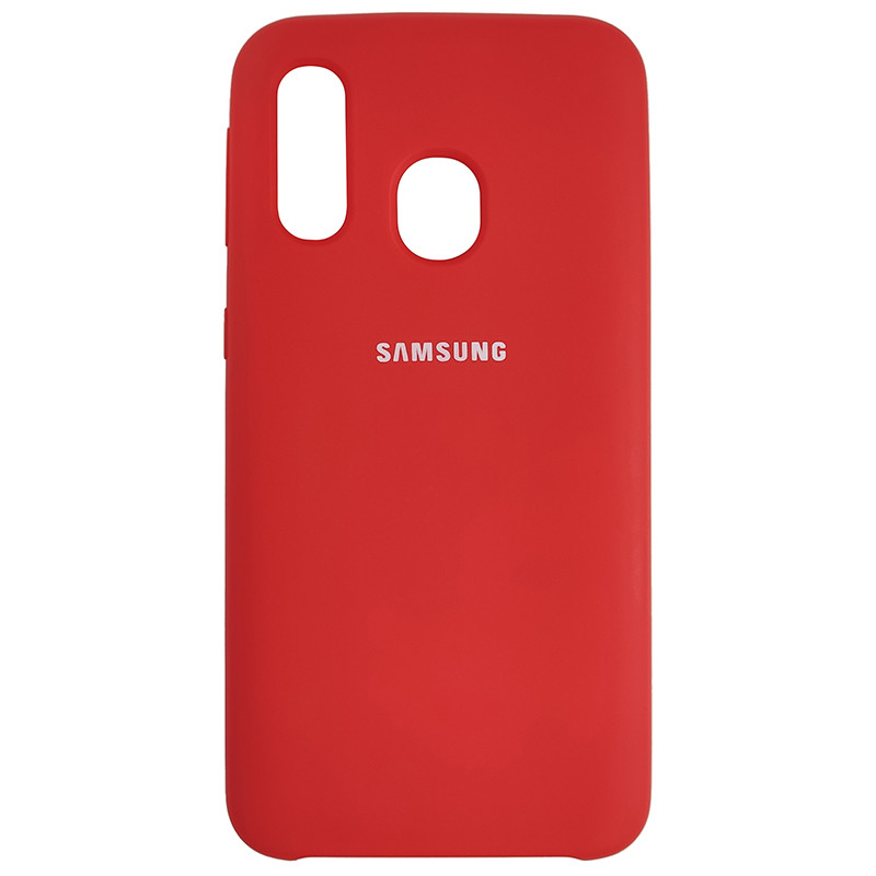 Чохол Silicone Case for Samsung A40 Red (14) - 1
