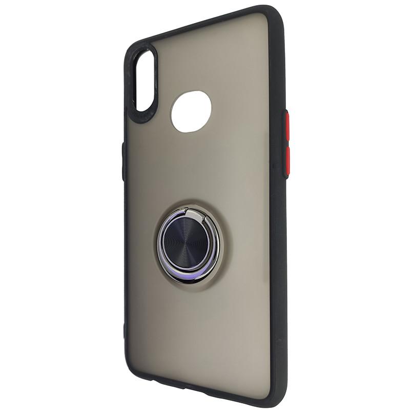 Чохол Totu Copy Ring Case Samsung A10S Black+Red - 3