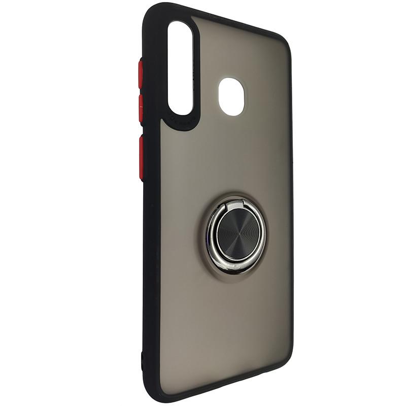 Чохол Totu Copy Ring Case Samsung A20/A30/M10S Black+Red - 1