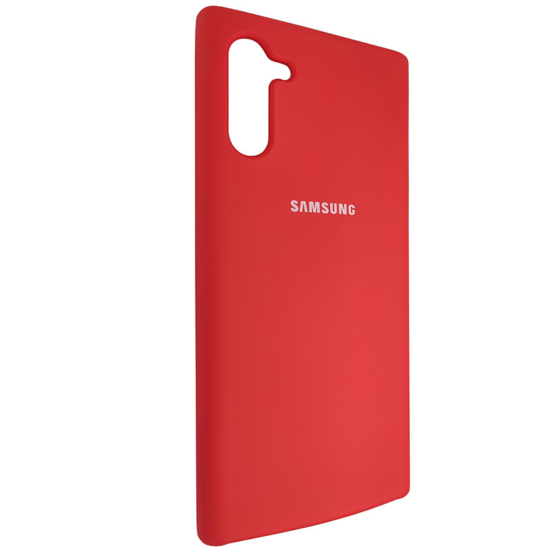 Чохол Silicone Case for Samsung Note 10 Red (14) - 2