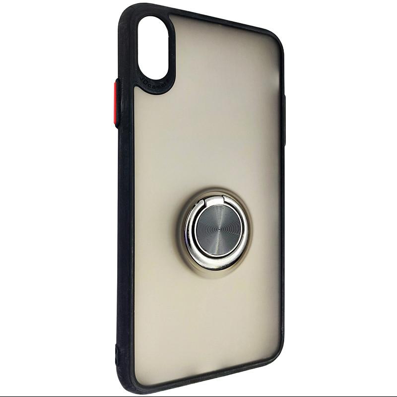 Чохол Totu Copy Ring Case iPhone XS MAX Black+Red - 1