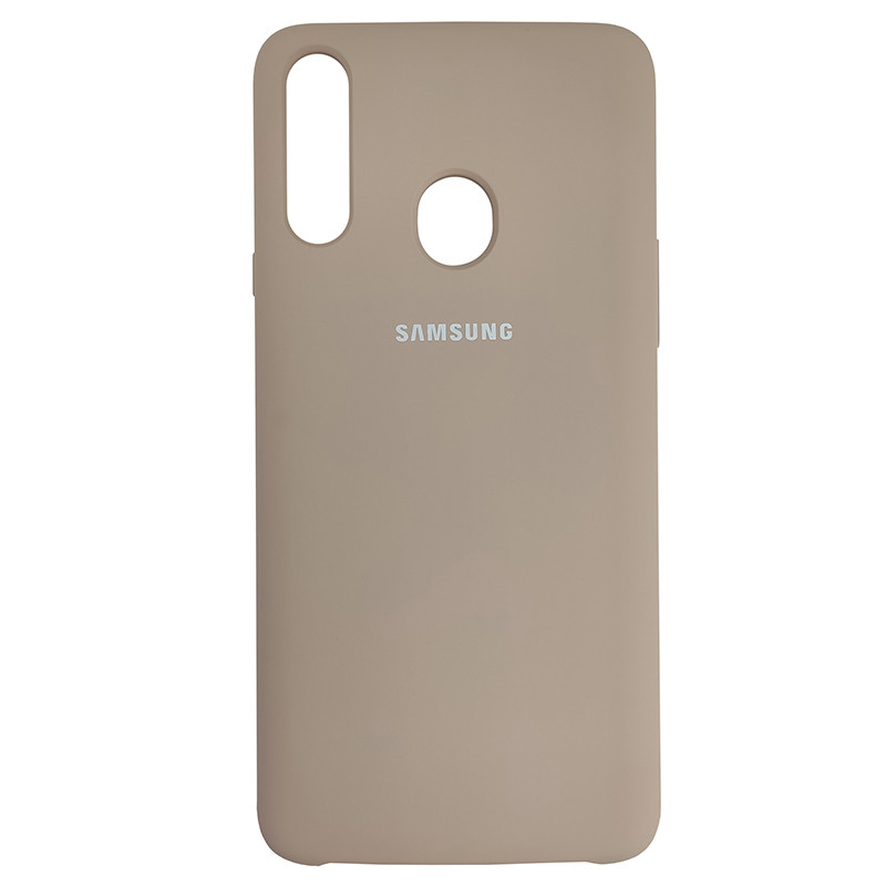 Чохол Silicone Case for Samsung A20s Sand Pink (19) - 1