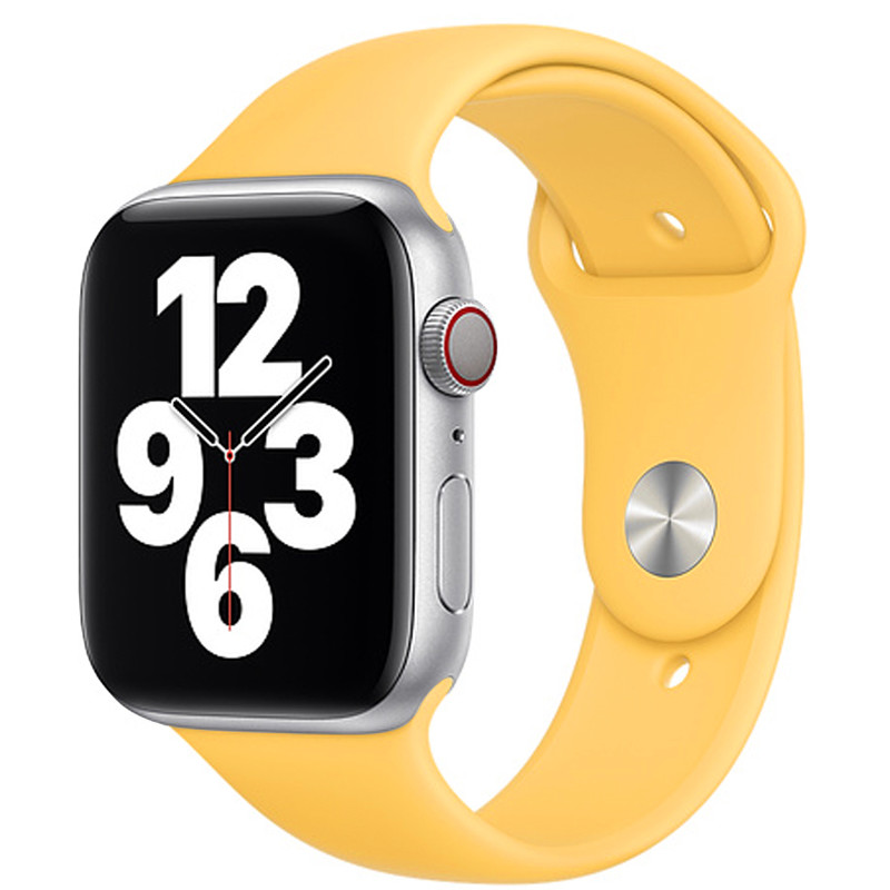 Ремінець для Apple Watch (42-44mm) Sport Band Yellow (4)  - 2