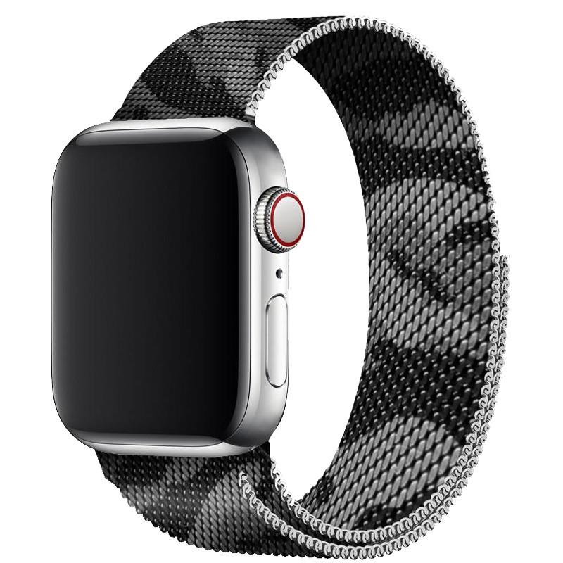 Ремінець для Apple Watch (38-40mm) Milanese Camo Silver - 2
