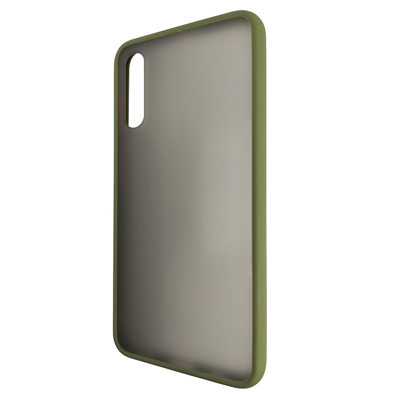 Чохол Totu Copy Gingle Series for Samsung A50S Dark Green+Orange - 3