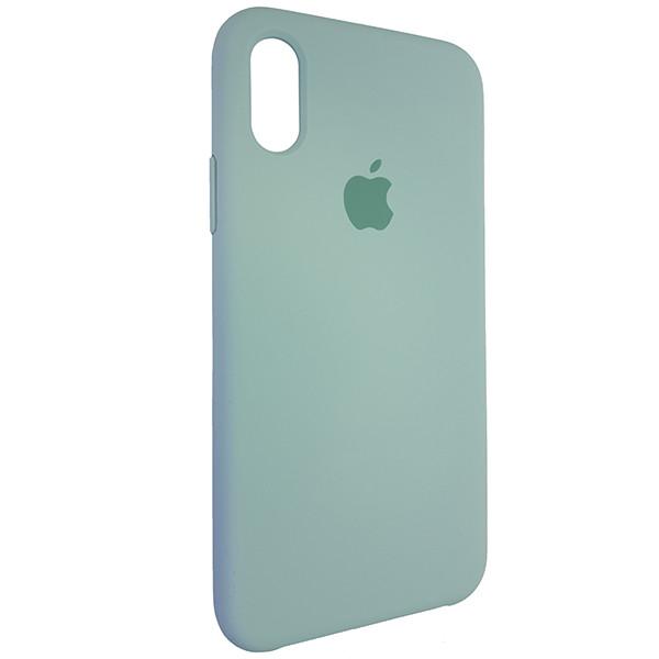Чохол Copy Silicone Case iPhone X/XS Mist Green (17) - 1
